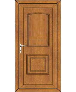 Fareham Solid uPVC Door In Oak