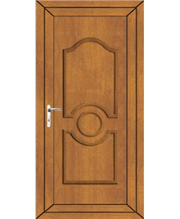 Johnstone Solid uPVC Door In Oak