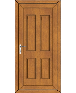 Irvine Solid uPVC High Security Back Door In Oak