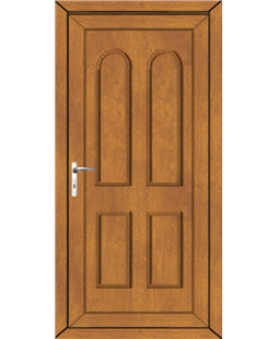 Northampton Solid uPVC Door In Oak