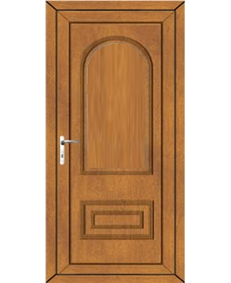 Epsom Solid uPVC High Security Door In Oak