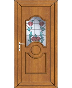Johnstone Summer Rose uPVC Door In Oak