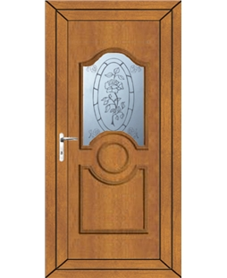 Johnstone Tea Rose uPVC Door In Oak