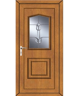 Portsmouth Traditional Tulip uPVC Door In Oak
