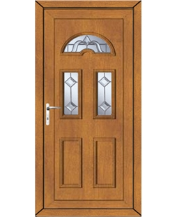 Brighton Victorian Bevel uPVC Door In Oak