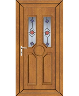 Queenborough Victorian Twist uPVC Door In Oak
