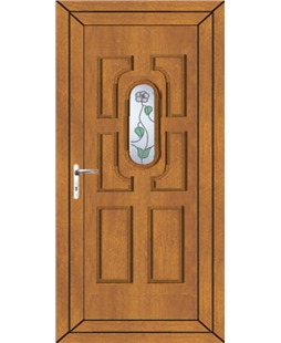 Cheltenham White Rose uPVC High Security Door In Oak