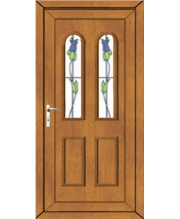 Northampton Trinidad Tulip uPVC Door In Oak