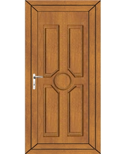 Queenborough Solid uPVC Door In Oak