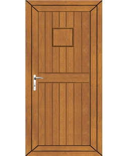 Torquay Solid uPVC Door In Oak