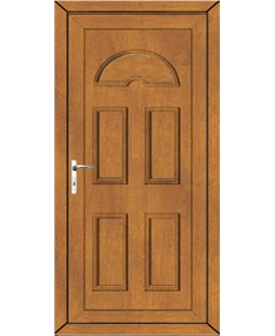 Brighton Solid uPVC Door In Oak