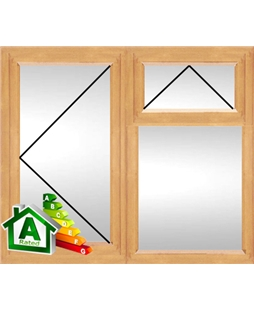 The Croydon uPVC Double / Triple Glazing Windows in Irish Oak