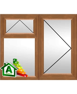 The Derby uPVC Double / Triple Glazing Windows in  Golden Oak