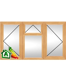 The Preston uPVC Double / Triple Glazing Windows in Irish Oak