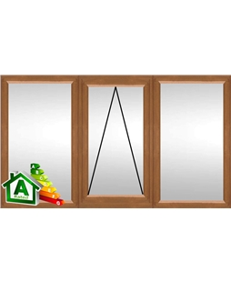 The Northampton uPVC Double / Triple Glazing Windows in  Golden Oak