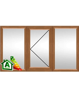 The Nottingham uPVC Double / Triple Glazing Windows in  Golden Oak