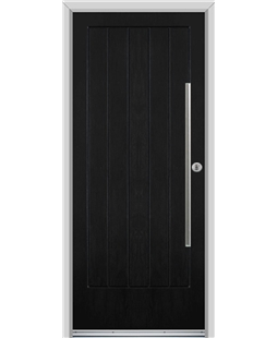 Ultimate Indiana Rockdoor in Onyx Black with Bar Handle