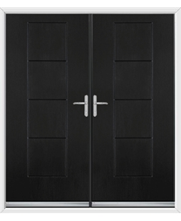 Indiana French Rockdoor in Onyx Black
