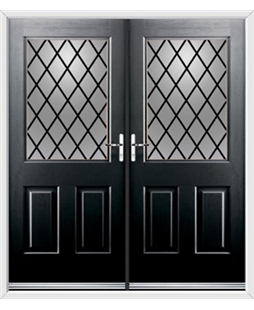 Windsor French Rockdoor in Onyx Black with Diamond Lead