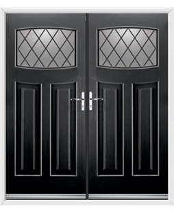 Newark French Rockdoor in Onyx Black with Diamond Lead