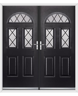 Tennessee French Rockdoor in Onyx Black with Diamond Lead