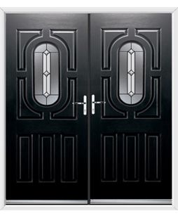 Arcacia French Rockdoor in Onyx Black with Ellipse