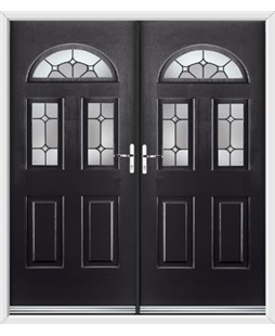 Tennessee French Rockdoor in Onyx Black with Ellipse