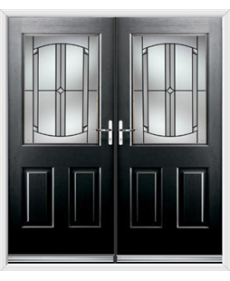 Windsor French Rockdoor in Onyx Black with Ellipse