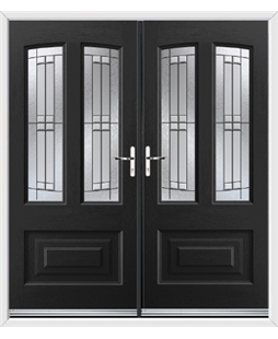 Illinois French Rockdoor in Onyx Black with Empire