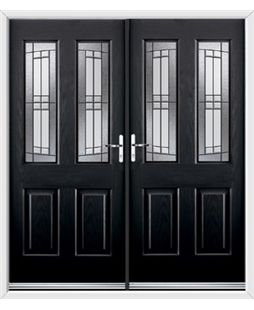Jacobean French Rockdoor in Onyx Black with Empire
