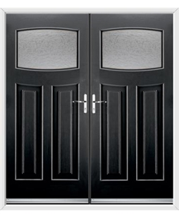 Newark French Rockdoor in Onyx Black with Gluechip Glazing