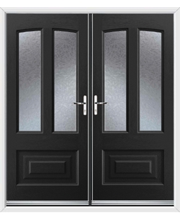 Illinois French Rockdoor in Onyx Black with Gluechip Glazing