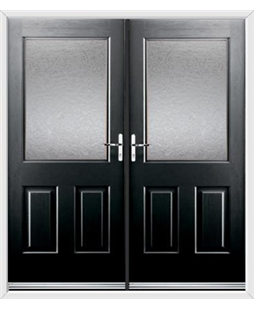 Windsor French Rockdoor in Onyx Black with Gluechip Glazing