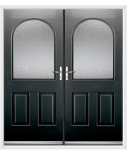 Kentucky French Rockdoor in Onyx Black with Gluechip Glazing