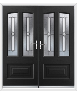 Illinois French Rockdoor in Onyx Black with Pinnacle