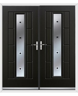 Vermont French Rockdoor in Onyx Black with Quadra