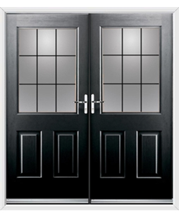 Windsor French Rockdoor in Onyx Black with Square Lead