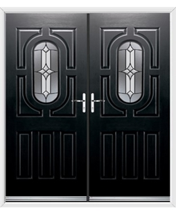 Arcacia French Rockdoor in Onyx Black with Summit