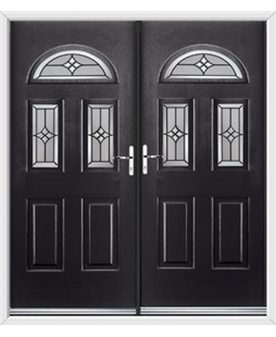 Tennessee French Rockdoor in Onyx Black with Summit