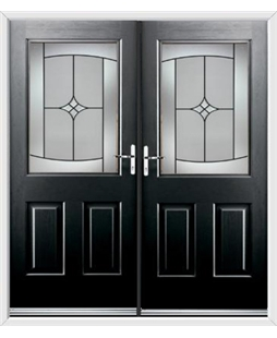 Windsor French Rockdoor in Onyx Black with Summit