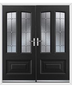 Illinois French Rockdoor in Onyx Black with Trinity