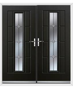 Vermont French Rockdoor in Onyx Black with Trio