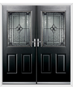 Windsor French Rockdoor in Onyx Black with Triton Glazing