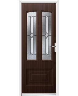 Ultimate Illinois Rockdoor in Mahogany with Pinnacle