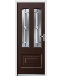 Ultimate Illinois Rockdoor in Rosewood with Pinnacle