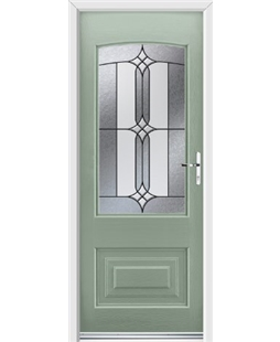 Ultimate Portland Rockdoor in Chartwell Green with Apostle Glazing