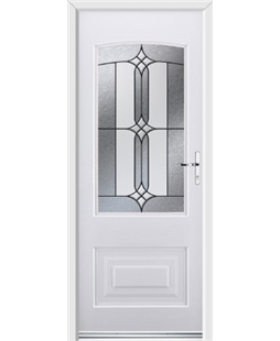 Ultimate Portland Rockdoor in White with Apostle Glazing
