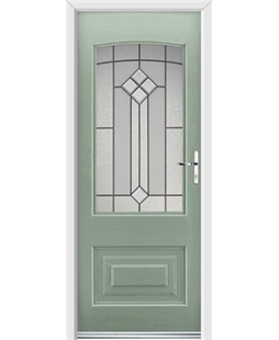 Ultimate Portland Rockdoor in Chartwell Green with Beacon Glazing