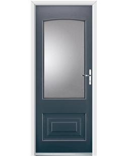 Ultimate Portland Rockdoor in Anthracite Grey with Glazing