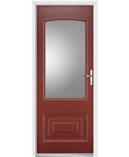 Ultimate Portland Rockdoor in Ruby Red with Glazing